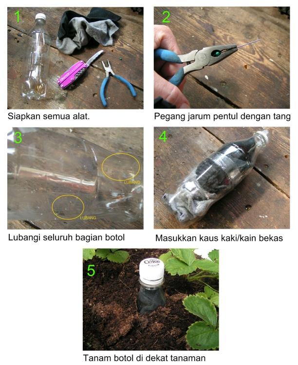 Botol penyiram tanaman otomatis