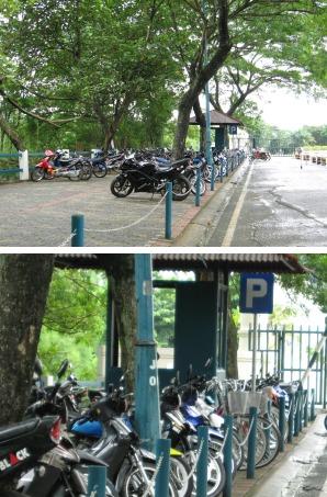 titip motor dan sepeda